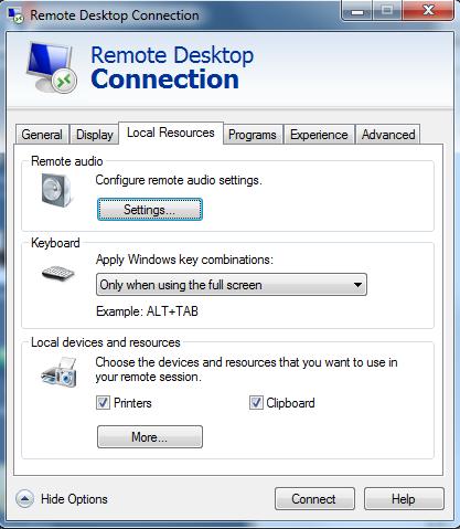 Remote server Windows access | Volicon 9 1 Admin Guide